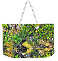 Pennsylvania Country Roads - Autumn Colorfest In The Creek No. 8 - Shade Creek Huntingdon County Weekender Tote Bag