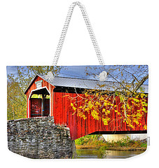 Pennsylvania Country Roads - Dellville Covered Bridge Over Sherman Creek No. 13 - Perry County Weekender Tote Bag