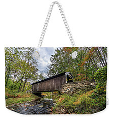 Pennsylvania Covered Bridge In Autumn Weekender Tote Bag