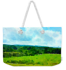 Weekender Tote Bag featuring the painting Pennsylvania Landscape by Joan Reese