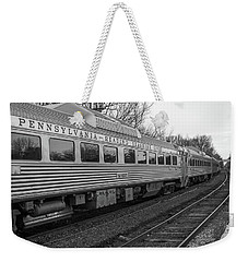 Weekender Tote Bag featuring the photograph Pennsylvania Reading Seashore Lines Train by Terry DeLuco