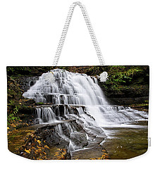 Weekender Tote Bag featuring the photograph Pennsylvania Waterfall by Christina Rollo