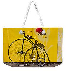 Penny Farthing Love Weekender Tote Bag by Garry Gay