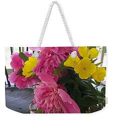 Peonies And Primroses Weekender Tote Bag