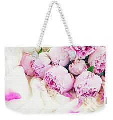 Peonies And Wedding Dress Weekender Tote Bag