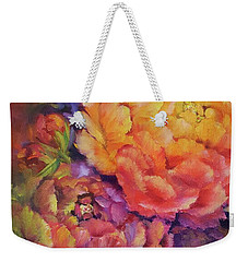 Peonies At Sunset Weekender Tote Bag