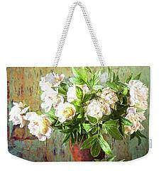 Peonies In A Vase Weekender Tote Bag