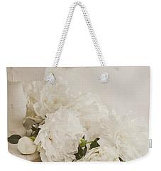 Peonies In White  Weekender Tote Bag