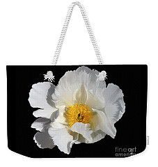 Weekender Tote Bag featuring the painting Peony 5 by Diane E Berry