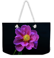Peony - Beautiful Flowers And Decorative Foliage On The Right Is One Of The First Places Among The G Weekender Tote Bag
