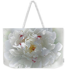 Weekender Tote Bag featuring the photograph Peony by Bonnie Willis