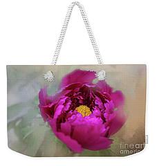 Peony Weekender Tote Bag by Eva Lechner