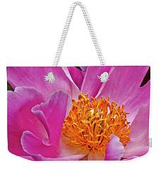 Pink Peony Garden Splendor Weekender Tote Bag by Carol F Austin