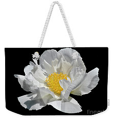 Weekender Tote Bag featuring the photograph Peony June by Diane E Berry