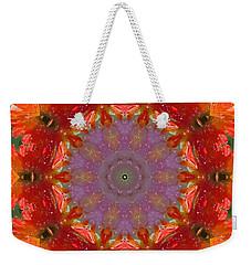 Peony Kaleidoscope 2 Weekender Tote Bag