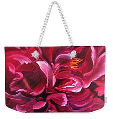 Peony Weekender Tote Bag by LaVonne Hand