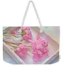 Peonies In White Box Weekender Tote Bag