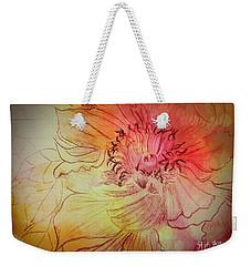 Peony Weekender Tote Bag by Maria Urso