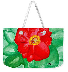 Weekender Tote Bag featuring the painting Peony Painting Two by Marsha Heiken