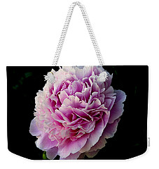 Weekender Tote Bag featuring the photograph Peony by Rhonda McDougall