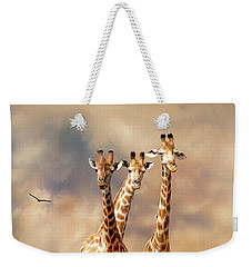 Weekender Tote Bag featuring the photograph People Watchers by Diane Schuster