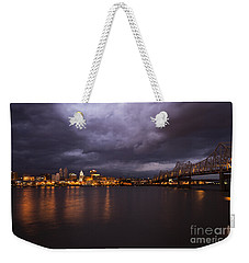 Weekender Tote Bag featuring the photograph Peoria Dramatic Skyline by Andrea Silies