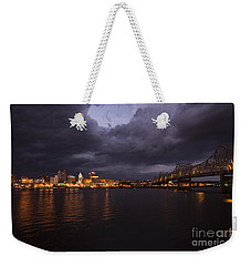 Peoria Stormy Cityscape Weekender Tote Bag by Andrea Silies