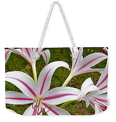Peppermint Lilies Weekender Tote Bag
