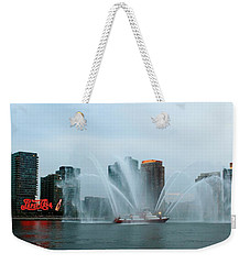 Pepsi Sign And Fdny  Weekender Tote Bag by Catie Canetti