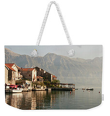 Perast Restaurant Weekender Tote Bag by Phyllis Peterson