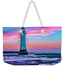 Weekender Tote Bag featuring the photograph Perch Rock Sunset by Brian Tarr