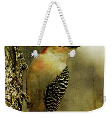 Perched And Ready - Weathered Weekender Tote Bag by Lana Trussell