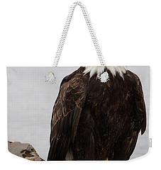 Perched Bald Eagle Weekender Tote Bag