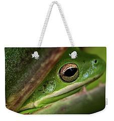 Frogy Eye Weekender Tote Bag