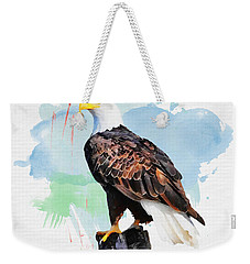 Perched Eagle Weekender Tote Bag by Greg Collins