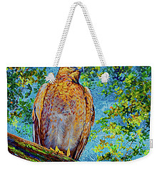 Perched Hawk Weekender Tote Bag