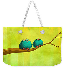 Perching Fluffs Weekender Tote Bag