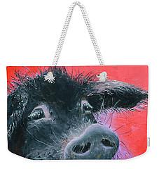 Percival The Black Pig Weekender Tote Bag by Jan Matson