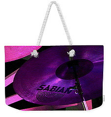 Weekender Tote Bag featuring the photograph Percussion by Lori Seaman