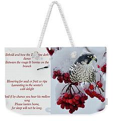 Peregrine Song Weekender Tote Bag