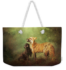 Weekender Tote Bag featuring the digital art Perfect Bliss by Nicole Wilde