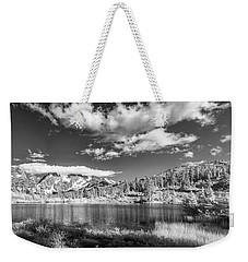 Weekender Tote Bag featuring the photograph Perfect Lake At Mount Baker by Jon Glaser