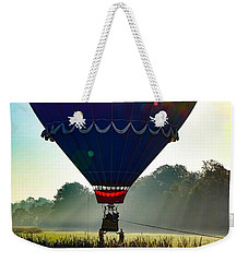 Weekender Tote Bag featuring the photograph Perfect Landing by Kendall McKernon