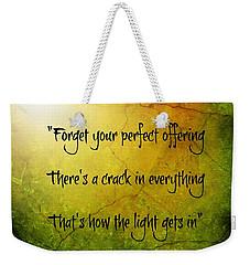 Perfect Offerings Weekender Tote Bag