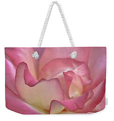 Pink Rose Petals Weekender Tote Bag by Joann Copeland-Paul