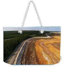 Perfect Poster Of An Ugly Polluted Landscape Of North America Read Canada Weekender Tote Bag
