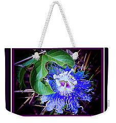 Perfect Purple Flower Hiding Weekender Tote Bag