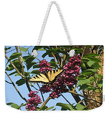 Yellow Swallowtail And Lilac Weekender Tote Bag