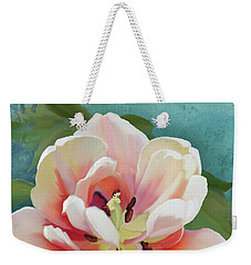Weekender Tote Bag featuring the painting Perfection - Single Tulip Blossom by Audrey Jeanne Roberts