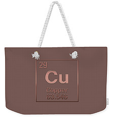 Periodic Table Of Elements - Copper - Cu - Copper On Copper Weekender Tote Bag